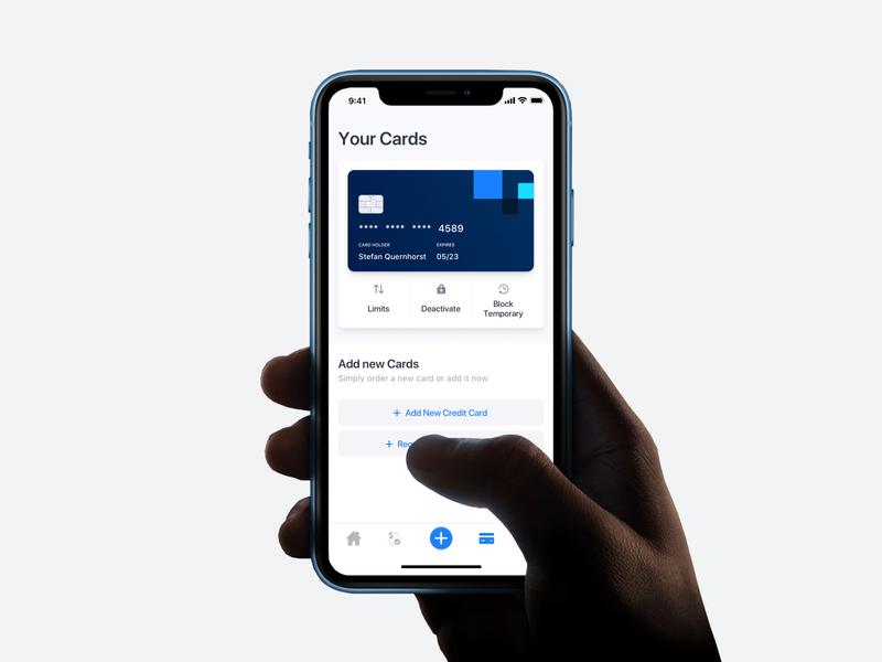 Banking App - Card Settings