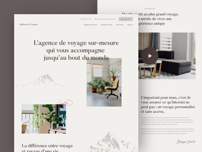 Influences Voyages - Agency page about page ui travel agency travel design website branding brand