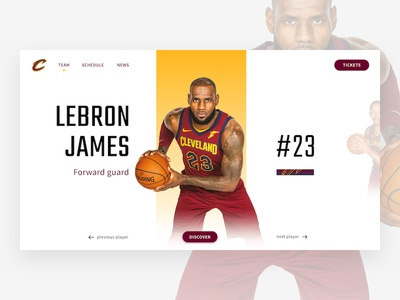 NBA - Cavs players - LeBron James sport ux ui basketball lebron james cleveland cavaliers cavs nba