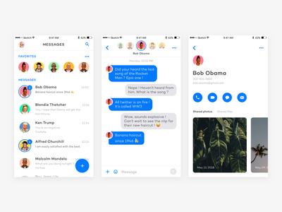 Messenger App hipsters leaders world shimoni amit profile messenger messages inbox clean app