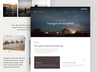 Influences Voyages - Landing page
