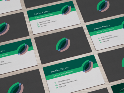 Example Business Card Layout / Design