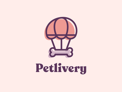 Petlivery - Branding design studio sweet lovely love care cat dog pet care petshop pets pet delivery branding design brand design branding brand identity isologotype brand