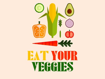 Eat Your Veggies - Poster