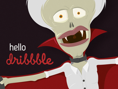 Dribbble 1st Shot dracula vampire