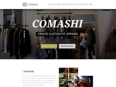 Comashi Landing Page