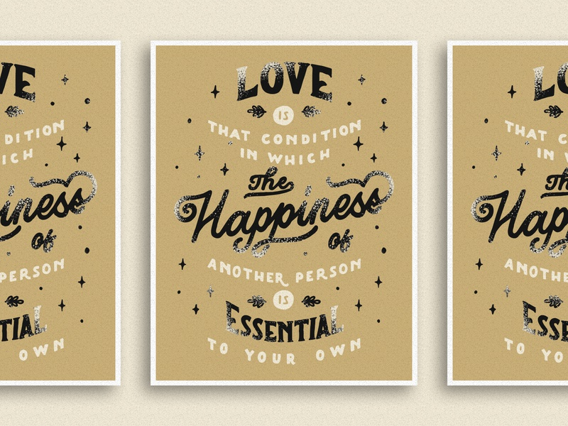 Happiness logotype vintage vector illustration design lettering typography handlettering