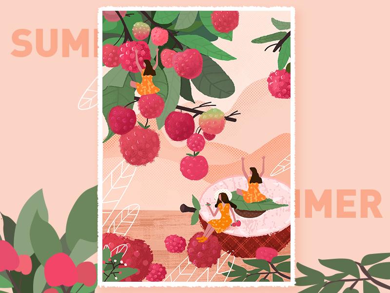 夏至 summer ui logo illustration fresh design