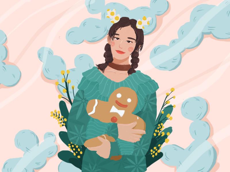 Girl01 material illustration ui design girl