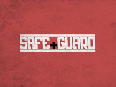 Safeguard Dribbble font typeface safe guard red texture