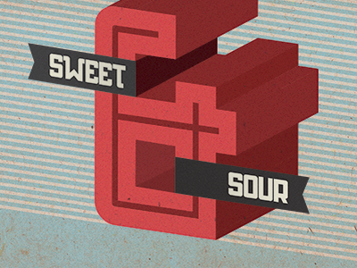 Sweet & Sour sweet sour texture dresden ampersand ribbon font typeface red