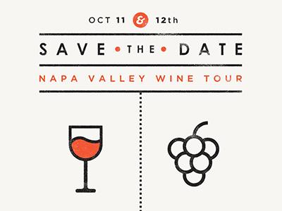 Save the Date save the date napa valley wine orange texture invitation