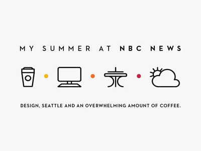Summer Overview nbc news summer coffee space needle weather computer icons