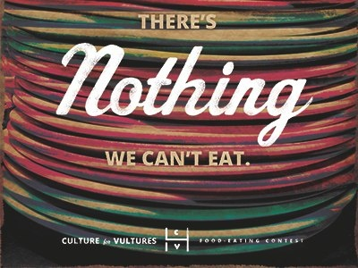 Nothing We Can't Eat nothing eat culture poster script food cause
