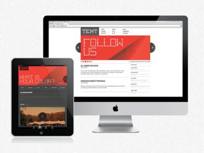 The Big Tent (Web + iPad) big tent red ipad imac website app follow color community