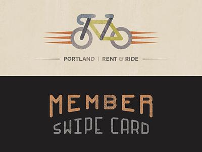 Member Card member card freewheel bike bicycle portland rent ride swipe icon