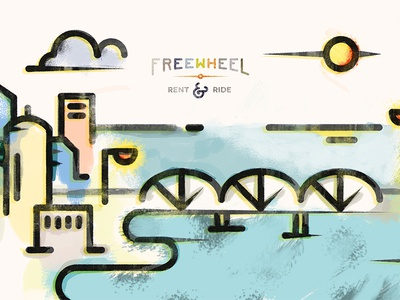 Freewheel Illustration free wheel illustration ampersand ren ride color pastel