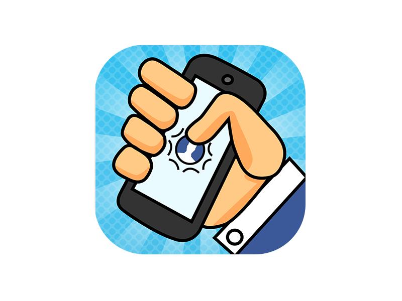 FaceTap game icon ios friends illustrator appstore hand illustration icon app iphone game facebook facetap