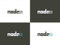 Nodejs logo b w