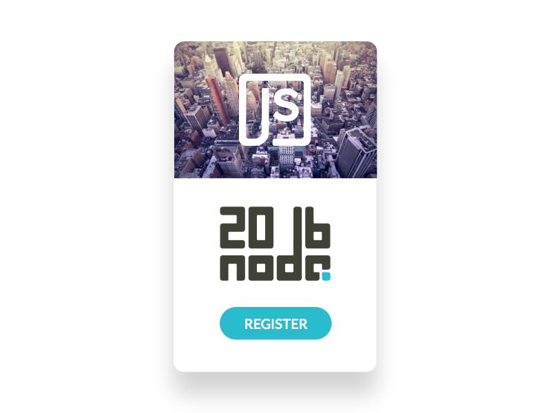 Nodejs Event Card 2016 2016 card event node javascript logotype identity code redesign logo nodejs