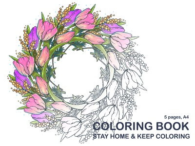 Free Coloring Book stay safe stayhome freebie coloring page coloring book illustration