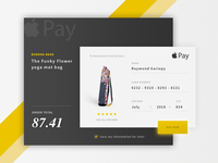 Rebound of Willionaire's Credit Card apple pay ux ui shopping register modal flat credit card card