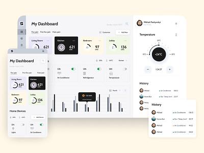 Smart Home Dashboard - Web version dribbblers dribbble design ux ui uidesign