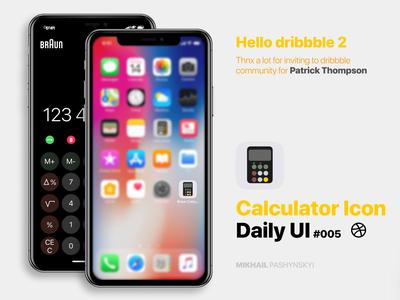 Daily Ui #005 - Calculator Icon