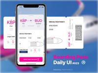 Daily UI #023 - Boarding Pass