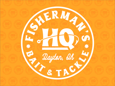 Fisherman's HQ Logo typography vector ohio illustrator dayton print design design logo branding graphic design