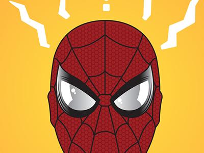 Spider Man illustration infinity war spider-man graphic design design print