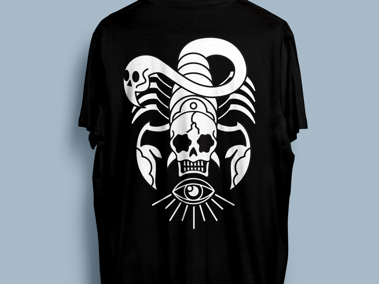 Skullpion Tee By Sharkmouth Design Dribbble Dribbble