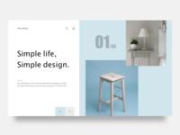 Web header of minimal design