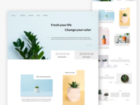 Plants landing page