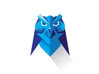 Owl - flat art