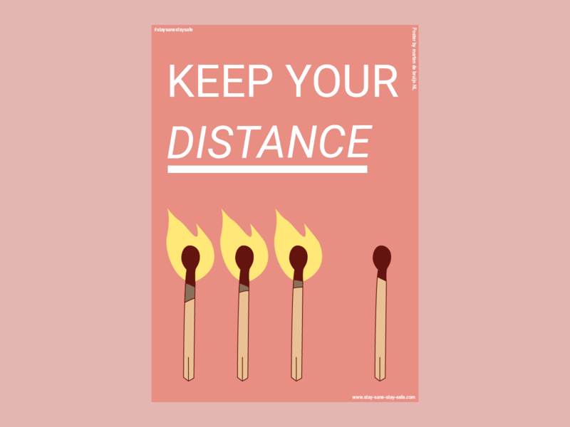 KEEP YOUR DISTANCE - Covid-19 Poster #staysanestaysafe