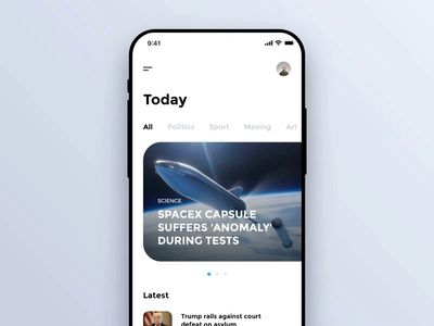 News App Animation