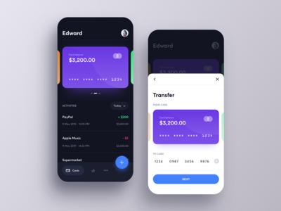 Mobile Bank App Concept