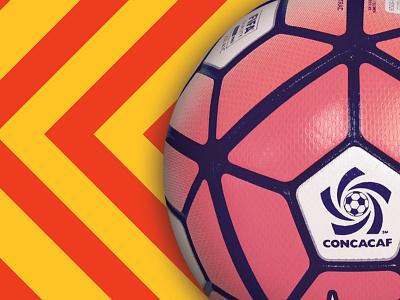 chevrons + ball advertising promotions flier flyer print concacaf fanpics ball soccer stripes chevron