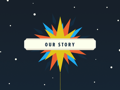 Our Story space timeline star navigation