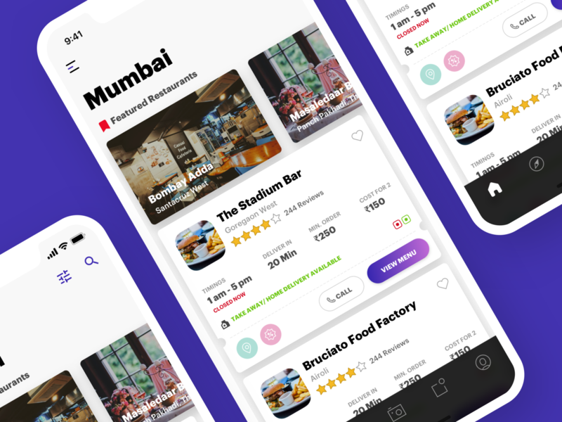 Food Discovery App Landing Page