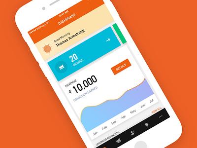 Dashboard mobile app design ui orange design studio india 999watt