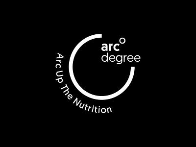 Arc Degree logo design minimal design black branding design studio india 999watt