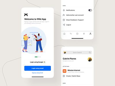 Knowledge Base App minimal ui design 999watt