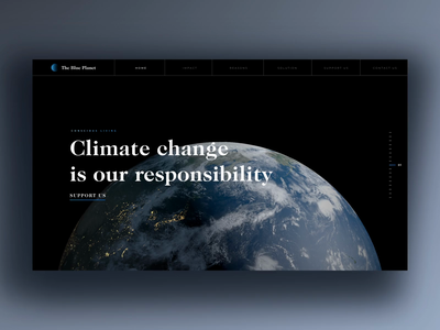 Sustainability in Design climate change climate earth day earth landing page motion clean uxui home page ecology animation sketch user interface habitat hbtat 3d design