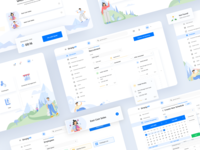 Dashboard for the B2B HR product product details product product design web design calendar whitespace fields table clear design blue design clean uxui dashboard design dashboard ui dashboard illustration user interface ux ui