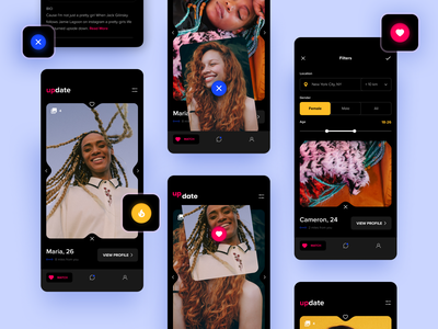 Date App UI mobile ui mobile design mobile ios designs date clean app app design uxui hbtat design user interface ux ui