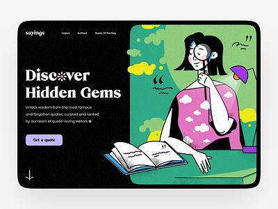Quotes Website typography logo web design hbtat home page illustration web design ux ui