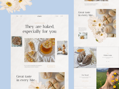 Craft Bakery Website ecommerce food graphic design website bakery web logo clean uxui design ui