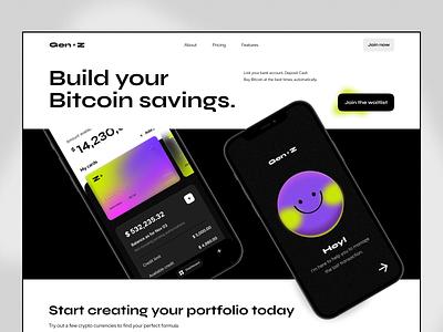 Fintech: Gen Z Neobank Website neobank bank finance fintech website logo illustration clean web uxui ux design ui